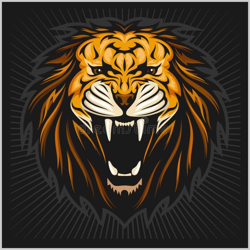 Fractal van de leeuw vector illustratie