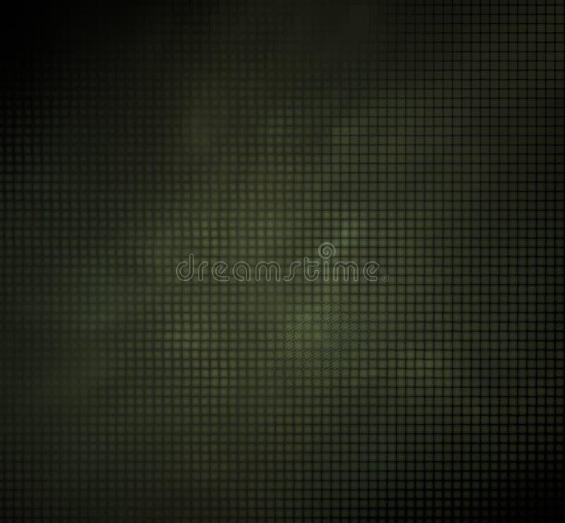 Fractal van het camouflagepixel vaag op een zwarte achtergrond royalty-vrije illustratie