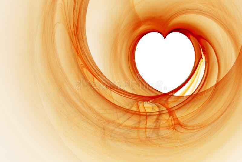 Fractal van het hart royalty-vrije illustratie