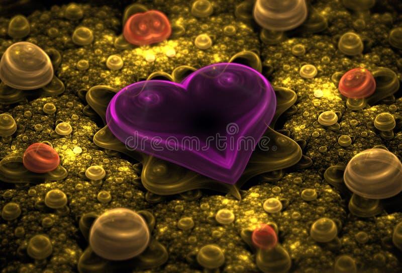 Fractal van het hart vector illustratie