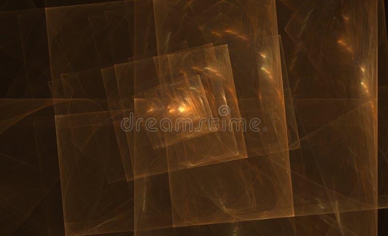 Fractal van het koper spaander vector illustratie