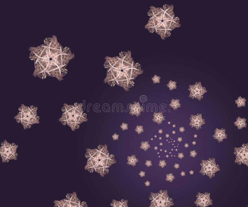 Fractal van sterren achtergrond stock foto's
