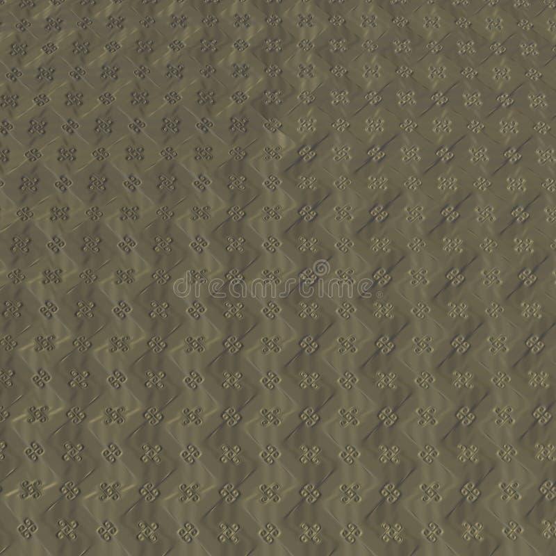 Fractal vier het patroon van de bladklaver royalty-vrije illustratie
