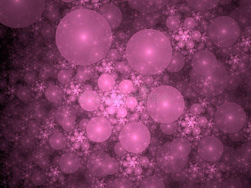 Fractal violeta das bolhas ilustração royalty free