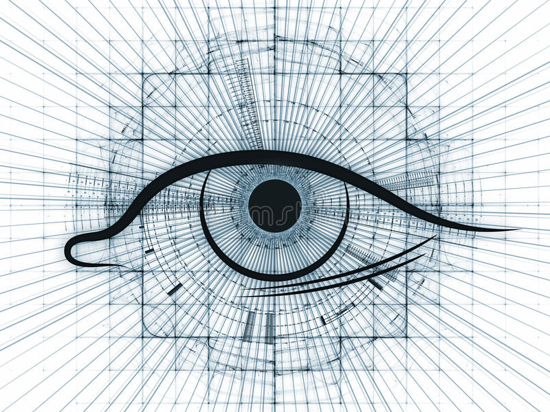 Fractal vision abstract stock illustration