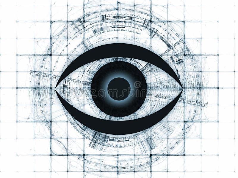 Fractal vision background vector illustration