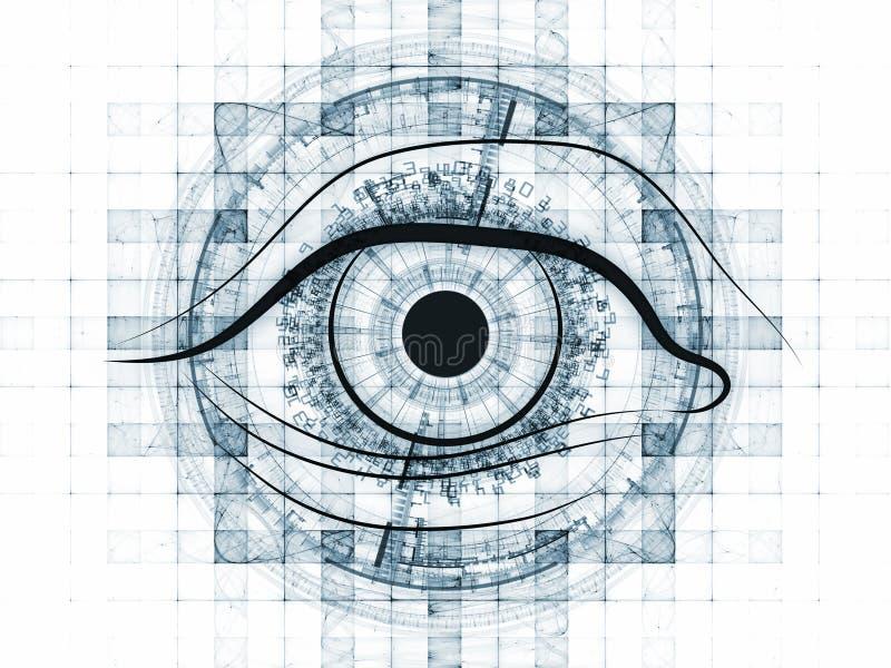Fractal vision background royalty free illustration