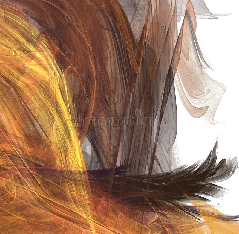 fractal włosy royalty ilustracja