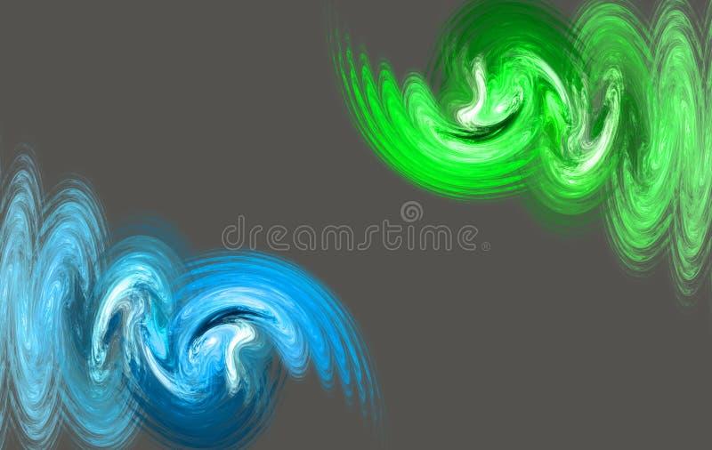 Fractal watercolor waves rainbow smoke stock illustration