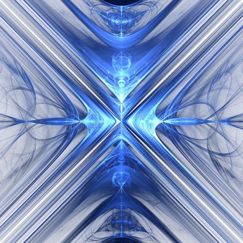 Fractal waves Fantasy stock illustration
