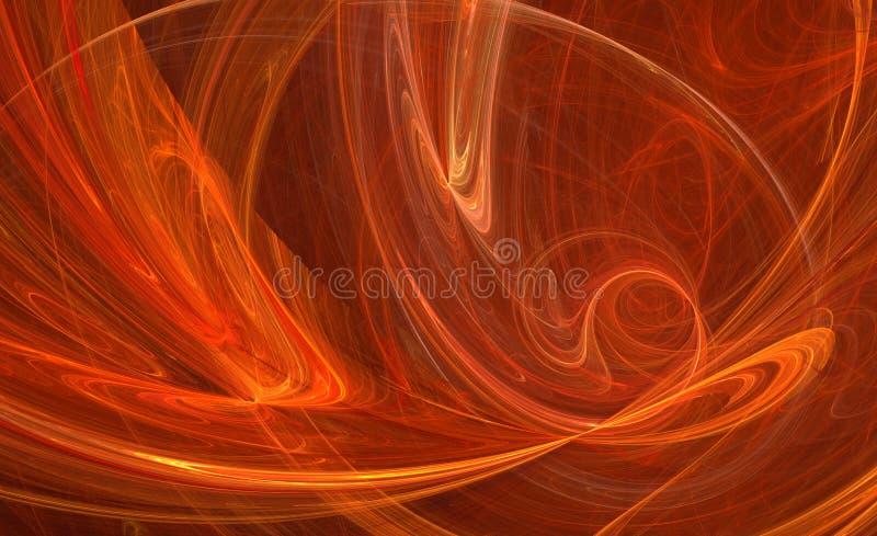 fractal wzór energetyczny pomarańcze ilustracja wektor