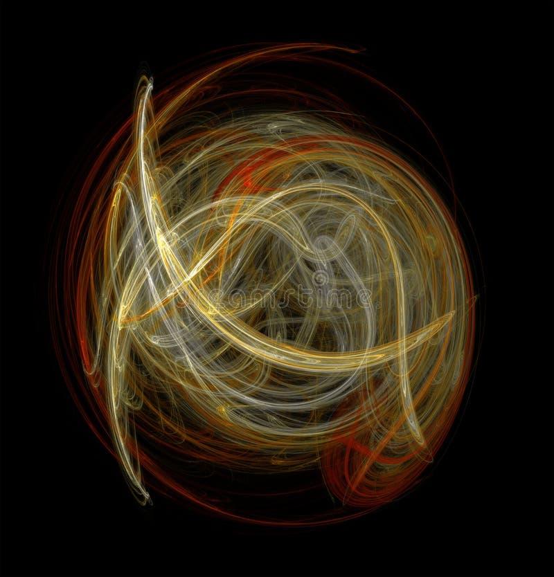 Fractalabstraktion Ein Glühen Mittel um welche Spiralen und Wellen vektor abbildung