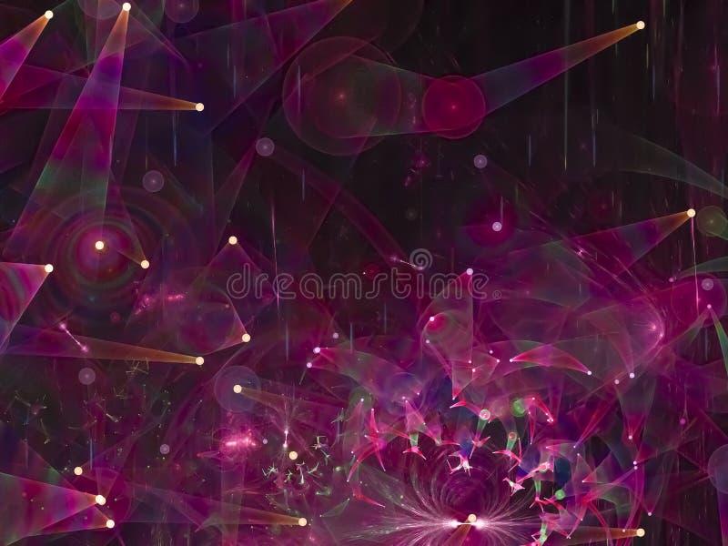 Fractalabstraktions-Fantasiekreativität digital vektor abbildung