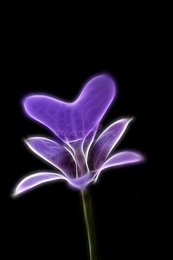 Fractalbild av en delikat lila orkidéblomma royaltyfria bilder