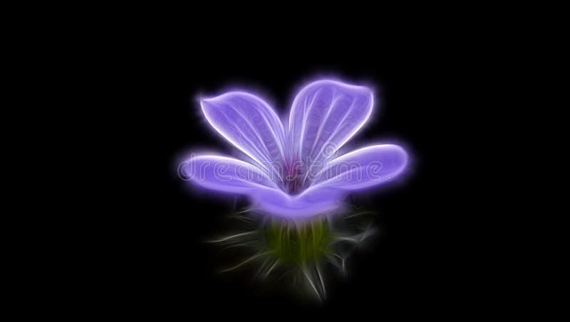 Fractalbild av en delikat purpurfärgad blomma arkivfoton