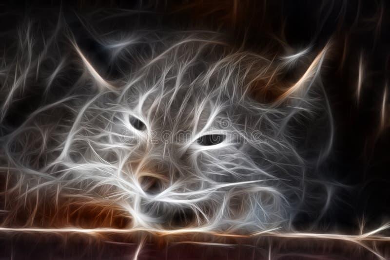 Fractalbild eines wilden Schlafenluchses lizenzfreie abbildung