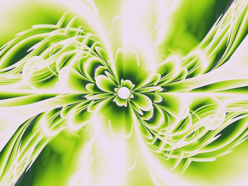 Fractalblumengrün vektor abbildung