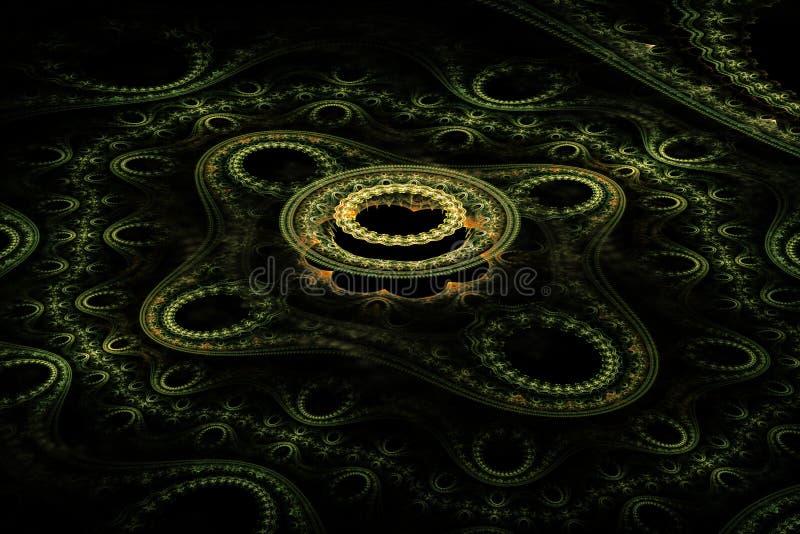 Fractale abstraite jaune-clair de cercle image libre de droits