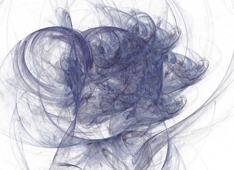 Fractale abstraite sur un fond blanc Collage de Digital illustration stock