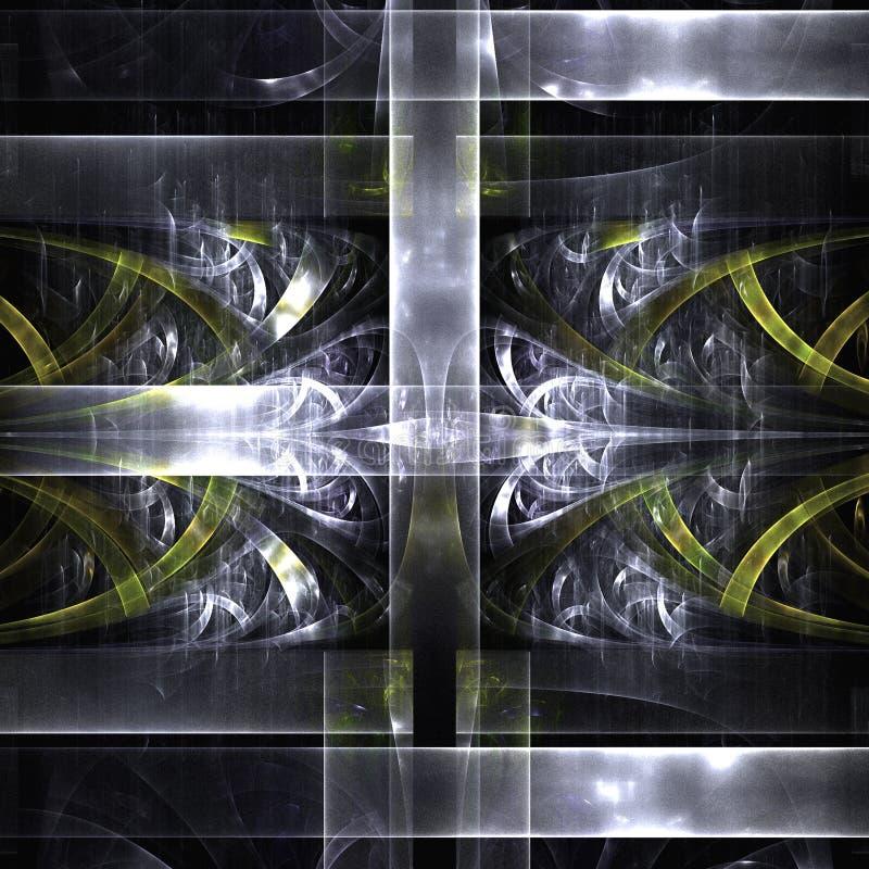 Fractale Art With Swirls And Cylinders et ombre avec illustration libre de droits