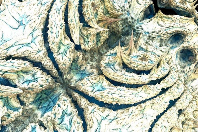 Fractale blanche et bleue illustration stock