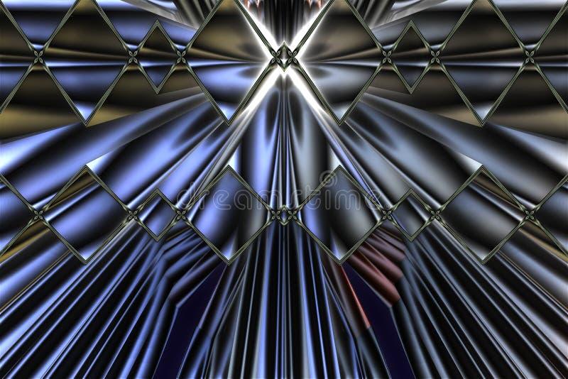 Fractale brillante bleue illustration de vecteur