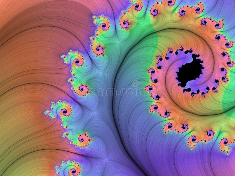Fractale colorée illustration de vecteur