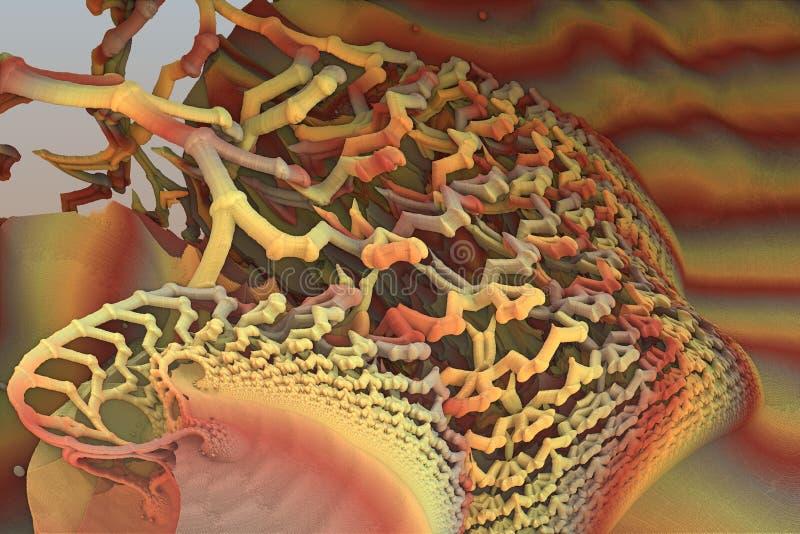 Fractale colorée spiralée illustration de vecteur