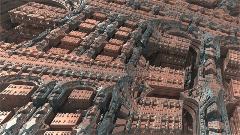 Fractale 3d Conception g?n?r?e par ordinateur abstraite de fractale illustration libre de droits