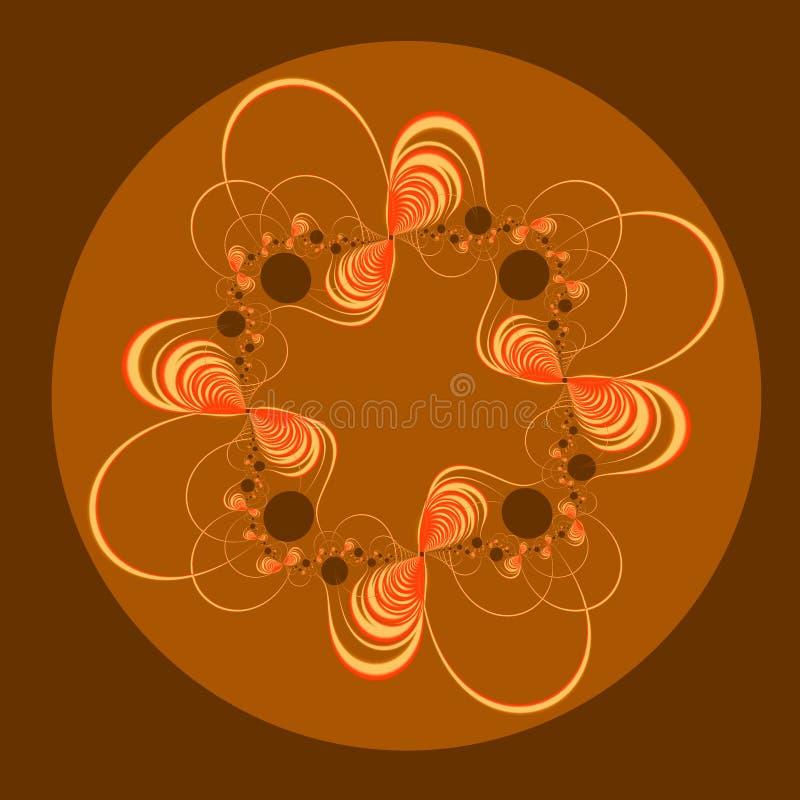 Fractale dans des sons chauds illustration stock