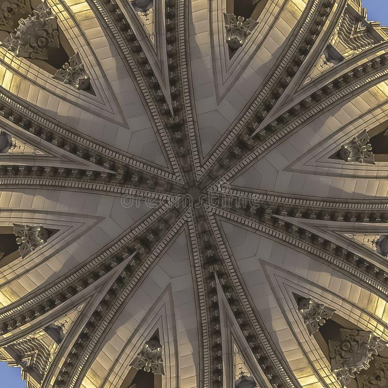 Fractale de Balled de place de la façade de la capitale de l'État images stock