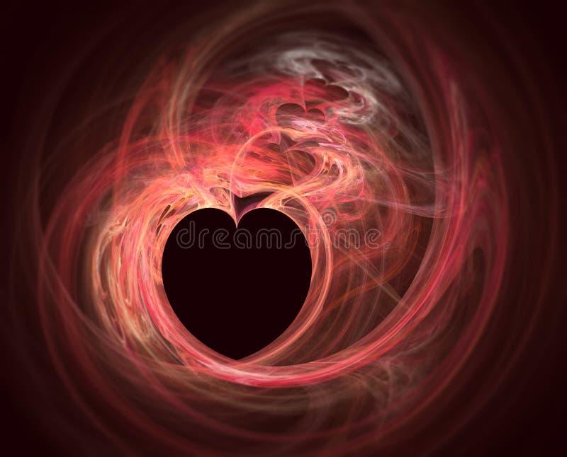 Fractale de coeur illustration de vecteur