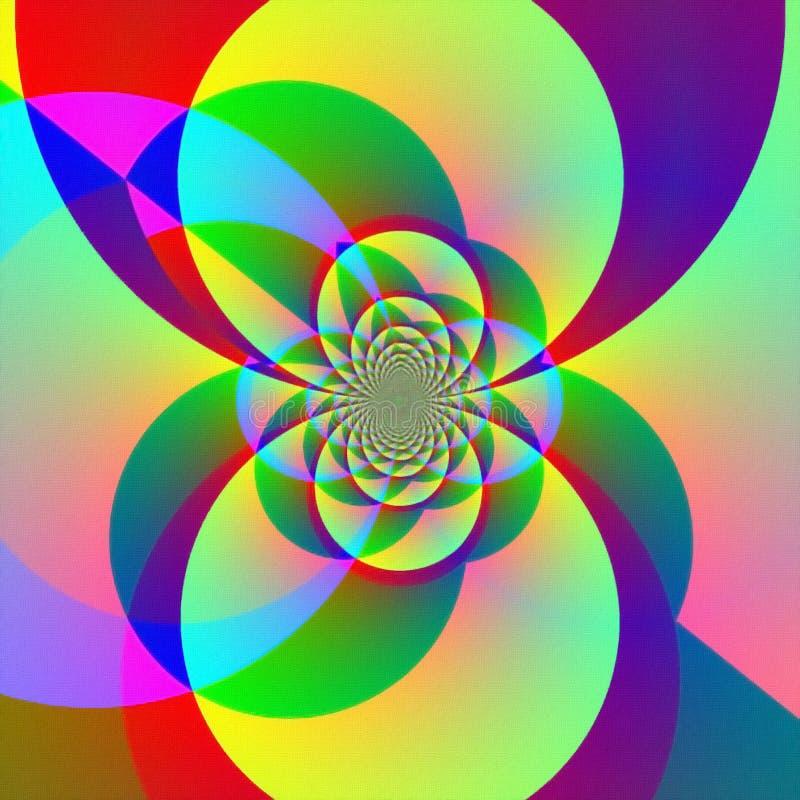 Fractale de couleurs illustration de vecteur