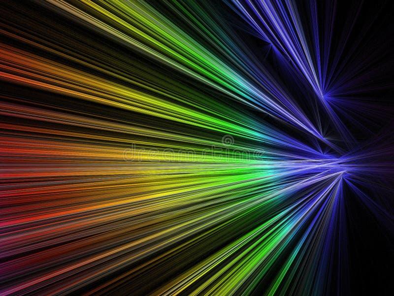 Fractale de vitesse dans la couleur d'arc-en-ciel illustration stock