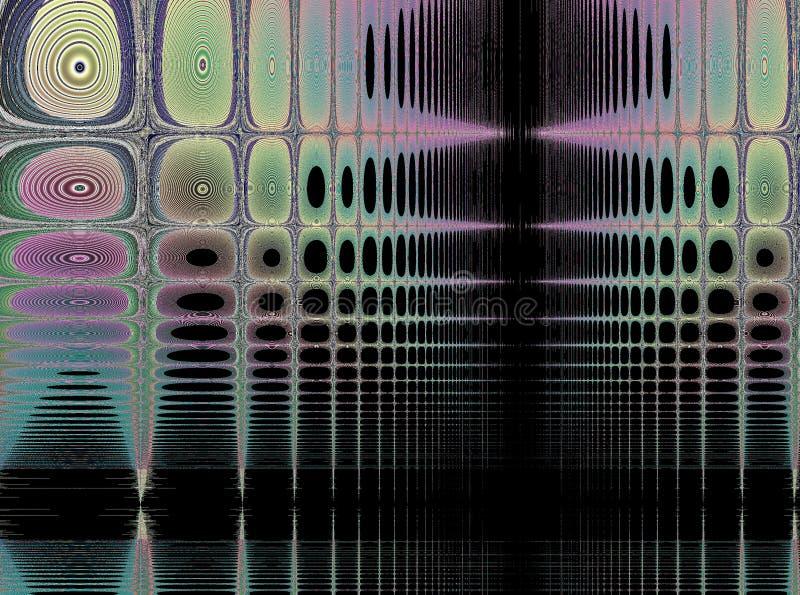 Fractale : Empreintes digitales dans une tapisserie illustration de vecteur