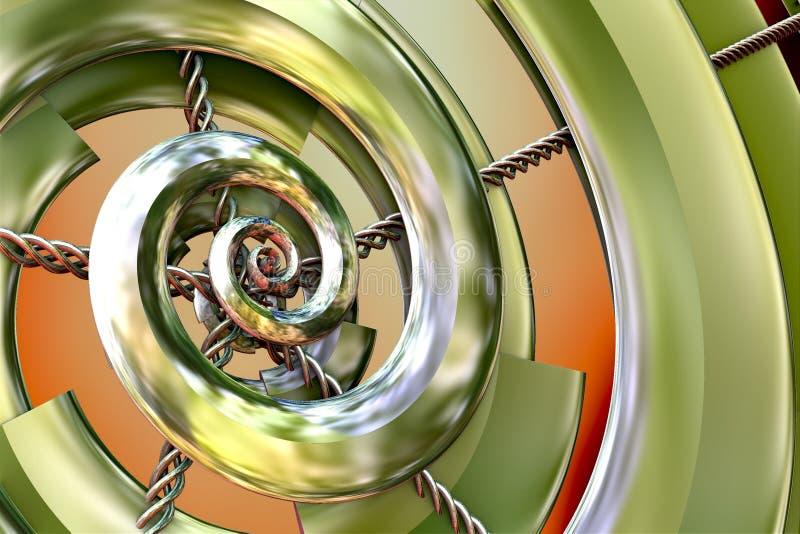 Fractale en spirale verte illustration libre de droits