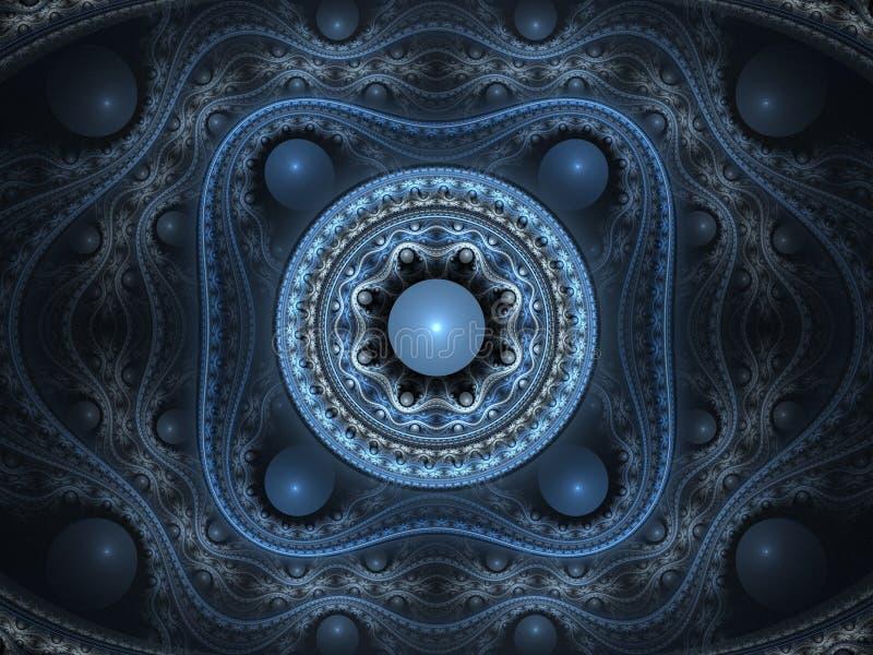Fractale florale de l'arabesque 3D illustration stock