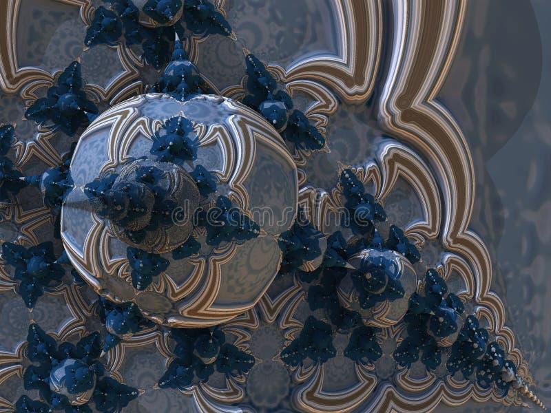 Fractale infinie bleue et brune illustration libre de droits
