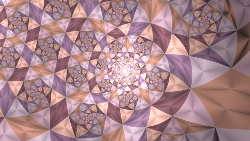 Fractale infinie d'imagination de triangle de Linier illustration stock
