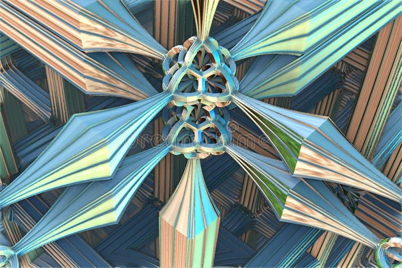 Fractale intéressante bleue illustration libre de droits