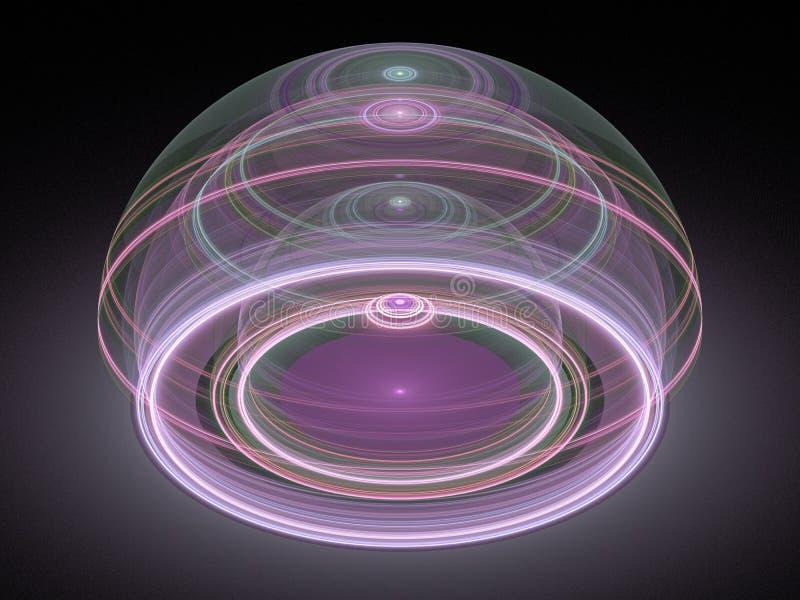 Fractale julienne grande optique 08 de l'art 3D illustration stock