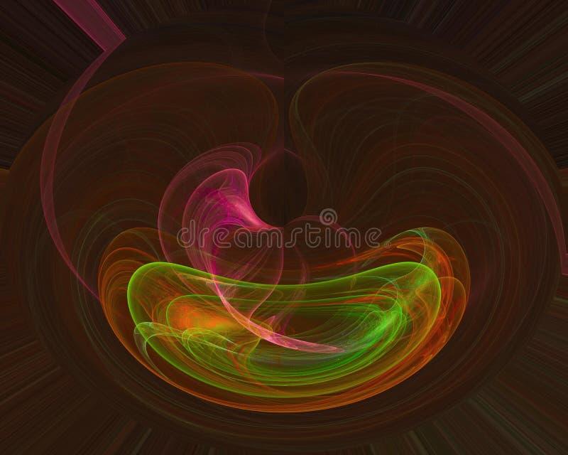 Fractale numérique abstraite, conception de paysage d'imagination décorative illustration stock