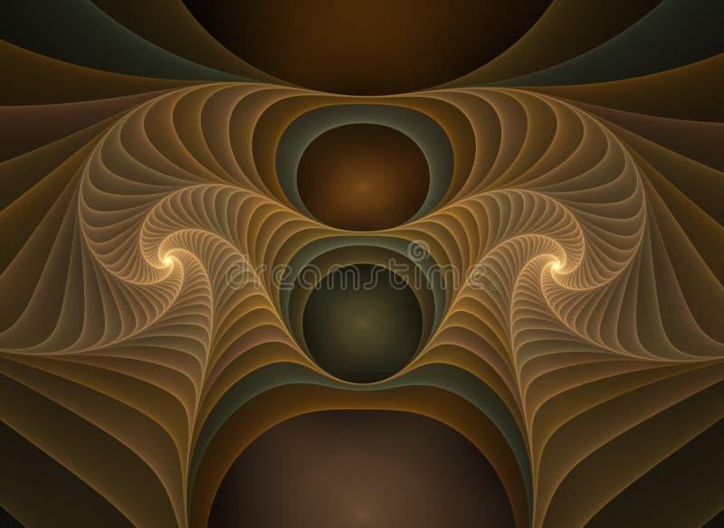 Fractale optique 02 de plastiques d'art illustration de vecteur