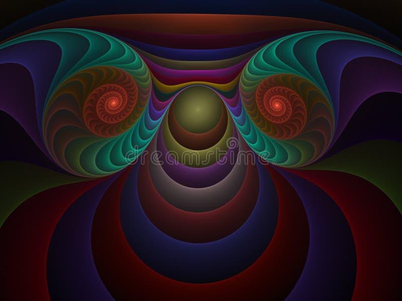 Fractale optique 03 de plastiques d'art illustration libre de droits