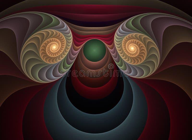 Fractale optique 04 de plastiques d'art illustration libre de droits