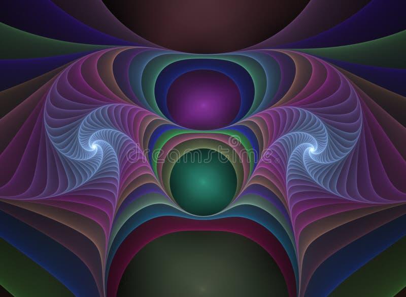 Fractale optique 06 de plastiques d'art illustration de vecteur