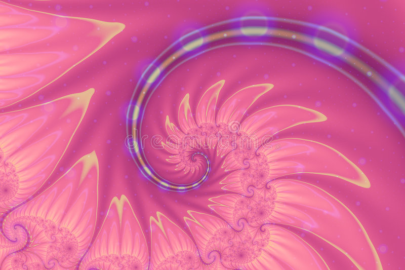 Fractale rose illustration libre de droits