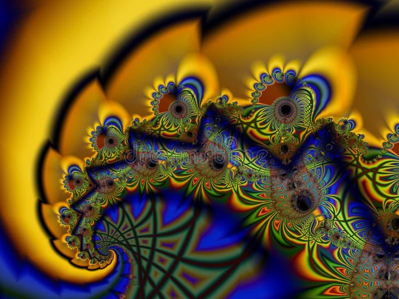 Fractale spiralée illustration libre de droits