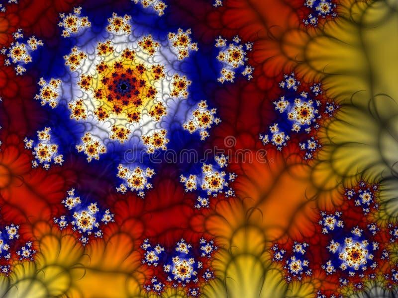 Fractale spiralée illustration de vecteur