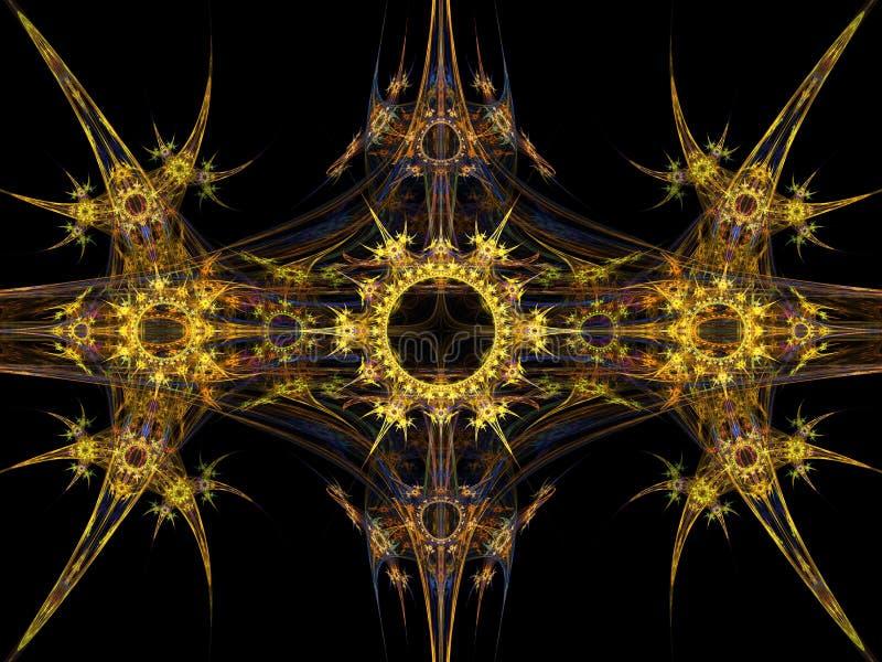 Fractale tribale de configuration illustration de vecteur